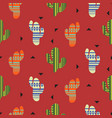 cactus plant seamless pattern mexican vector image vector image