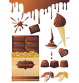 chocolate set vector image