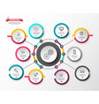 circle infographic layout with paper labels vector image vector image