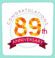 colorful polygonal anniversary logo 3 089 vector image vector image