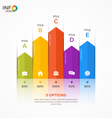 column chart infographic template 5 options vector image