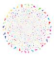 confetti stars festival sphere vector image vector image