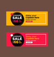 creative clearance sale banners vector image vector image
