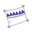 cushion decoration comfort isolated icon design vector image