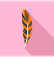 decorative feather icon flat style vector image