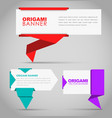 Design banners in origami style vector image vector image