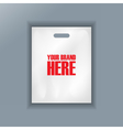 Digital cellophane bag plastic mockup vector image