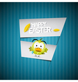 Easter Retro Blue Paper Cardboard Background with vector image vector image