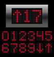 elevator digital numbers vector image