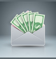 envelope mail email bribe money dollar icon vector image