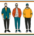 Fashion men vector image