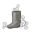 Felt boots sketch for your design vector image vector image