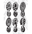footprint sport shoes vector image vector image