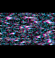glitch texture pixel noise test tv screen digital vector image vector image