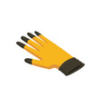 gloves isometric hand tool protective vector image