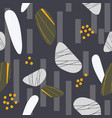 gold and grey stones seamless pattern vector image vector image