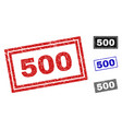 grunge 500 textured rectangle stamps vector image vector image