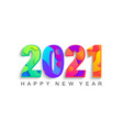 happy 2021 new year abstract greeting card vector image vector image