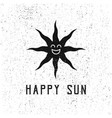 happy sun concept vintage style perfect for brand vector image