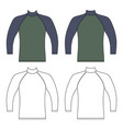 long sleeve raglan t-shirt vector image vector image