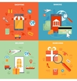 M-commerce And Shopping Icons Set vector image vector image