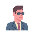 male wearing sunglasses emotion icon isolated vector image vector image