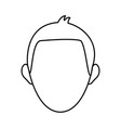 man face character people contour image vector image
