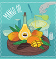 mango seed oil used for cooking vector image vector image