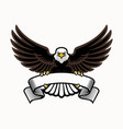 mascot eagle grip blank ribbon vector image vector image