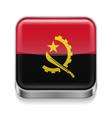 Metal icon of Angola vector image vector image