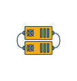 mining hardware icon set four elements in vector image vector image