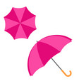 open colorful umbrella flat design icon vector image
