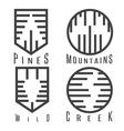 outdoor adventure rhythm style sticker set vector image
