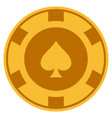 peaks suit gold casino chip vector image vector image