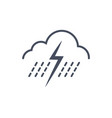 rain storm weather icon climate forecast concept vector image
