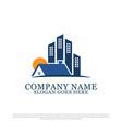 real estate business logo design inspiration best vector image vector image