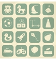 retro children toys icon set vector image vector image