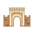 rimini emilia romagna italy arch of augustus vector image vector image