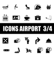 set icons airport vector image