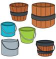 set of bucket vector image vector image