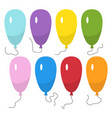 set of eight colorful balloons with a string vector image vector image