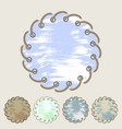 set of round stickers and labels with grunge vector image vector image