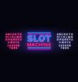 slot machine sign design template vector image