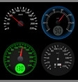 speedometers sport black scales vector image