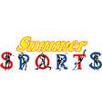 summer sports banner design vector image vector image