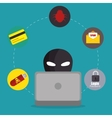 system threats concept icons vector image vector image