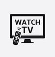 television with remote control icon vector image vector image