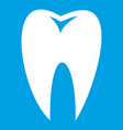 tooth icon white vector image vector image