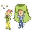 Tourist Camping vector image