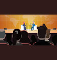 two arab business men or politicians on coference vector image vector image